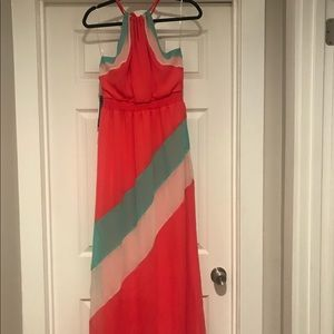 Multi colored maxi dress. Never been worn!